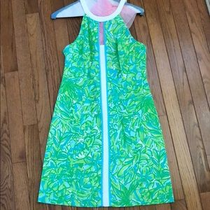 Lilly Pulitzer Pearl Shift Dress in Green Parrot